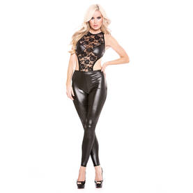 Body Lace & Wet Look Catsuit - Bodyt - 883045905130 - 1